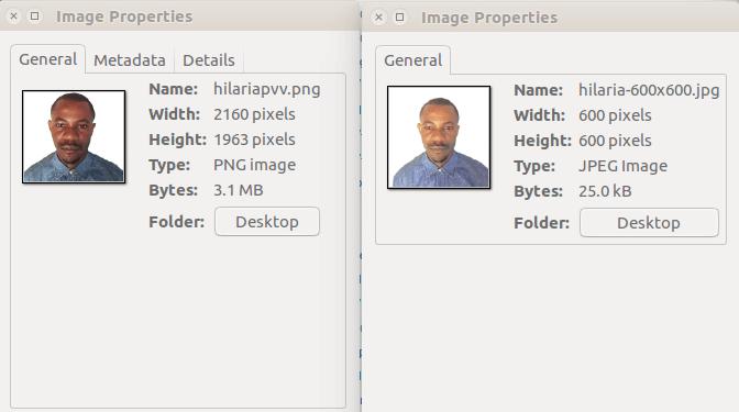 visafoto propriété avant et après traitement