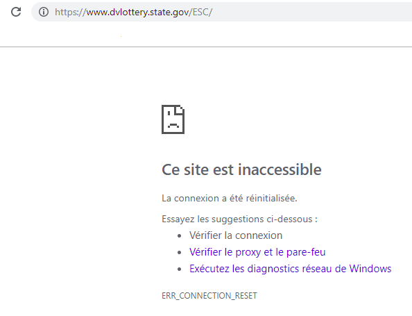 site dv lottery inaccessible